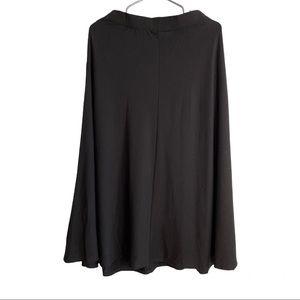 NWT Reformation Jeans Black Midi Skirt size M